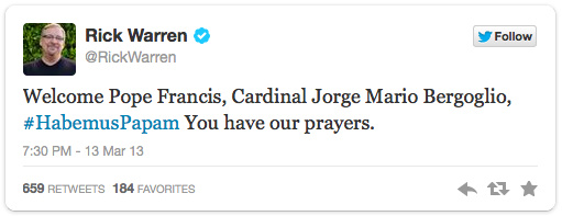 Rick-Warren-on-Pope-Francis